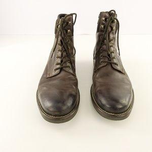 Alfani Mens Kooper Leather Boots with Zipper Brown